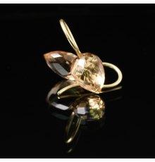 Aukso auskarai su Kvarcu