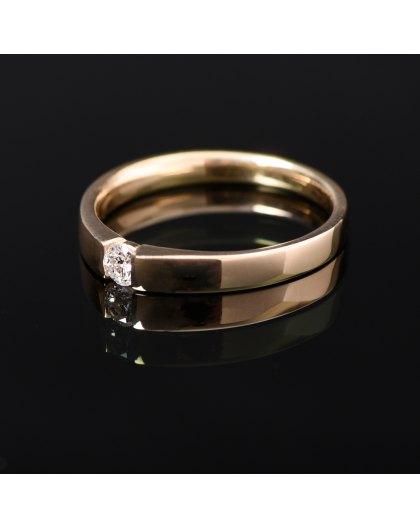 Sužadėtuvių žiedas su Briliantu