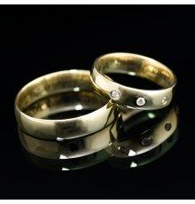 Vestuviniai žiedai su Deimantais