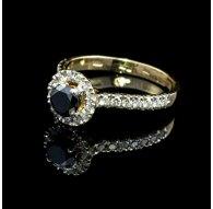 Aukso žiedas su Deimantais